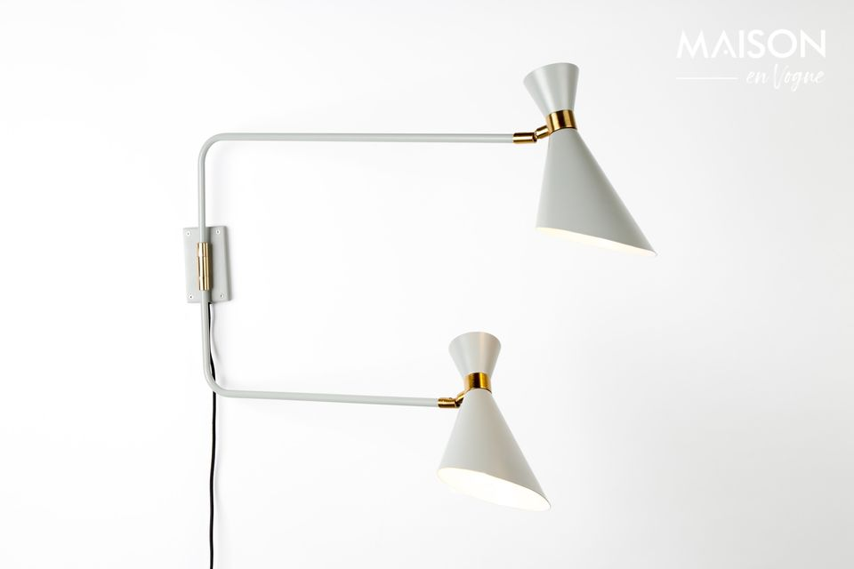 Shady double wall lamp in grey Zuiver