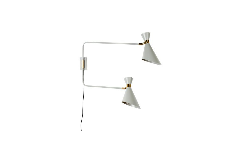 Shady double wall lamp in grey - 5