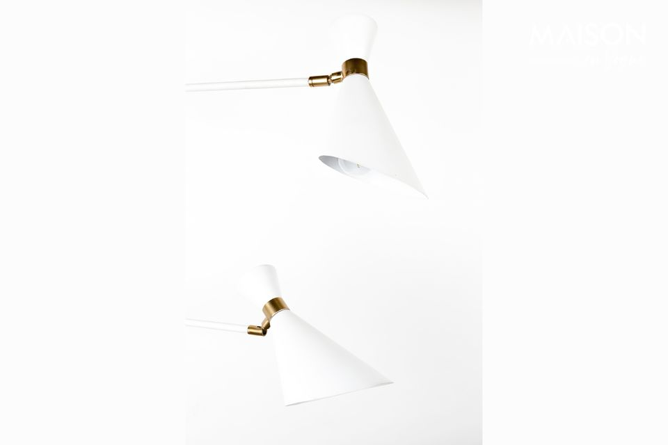 Shady white double wall lamp - 4