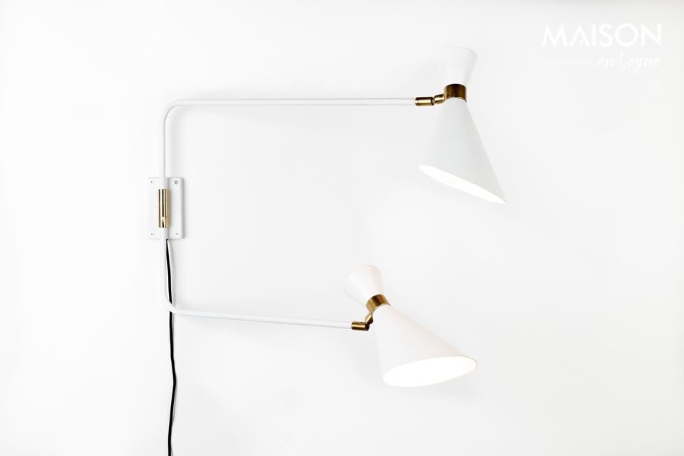 Shady white double wall lamp Zuiver