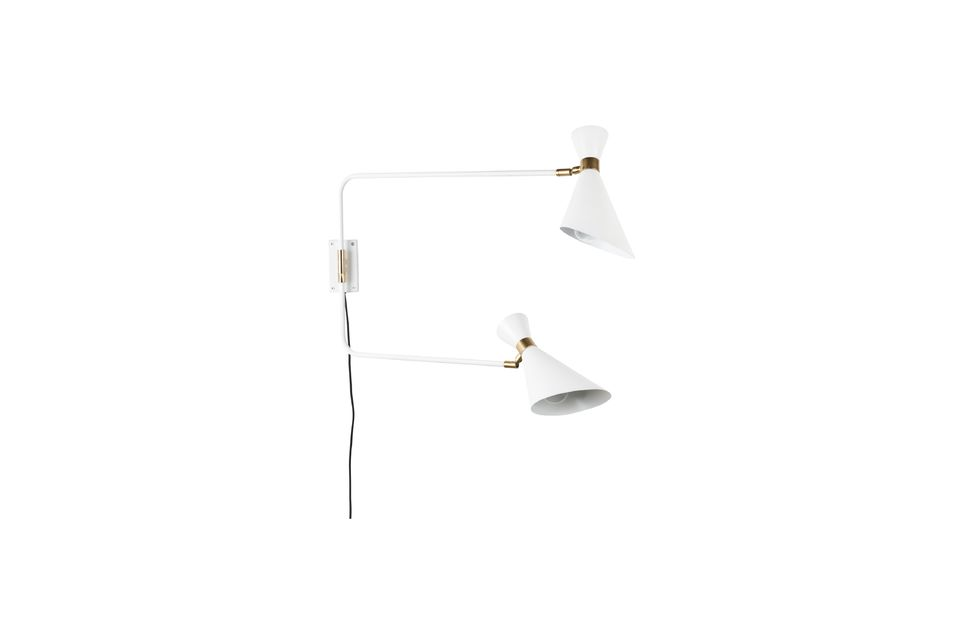 Shady white double wall lamp - 5