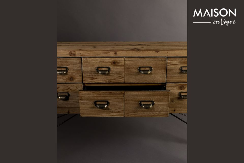 Sideboard Six with wooden drawers - 8