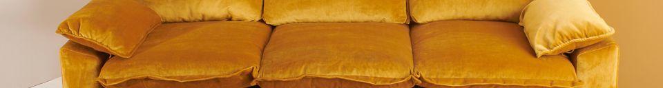 Material Details Sofa 3-seater Vez ochre colour