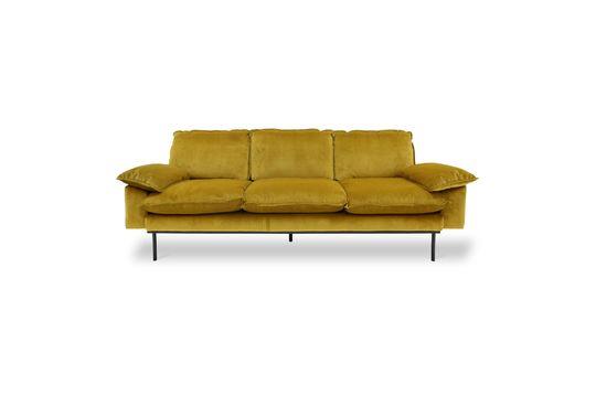 Sofa 3-seater Vez ochre colour Clipped