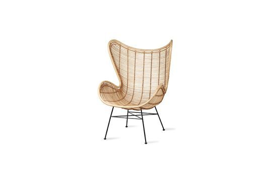 Suin Egg Armchair in natural rattan Clipped