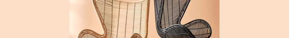 Material Details Suin Egg Armchair in natural rattan
