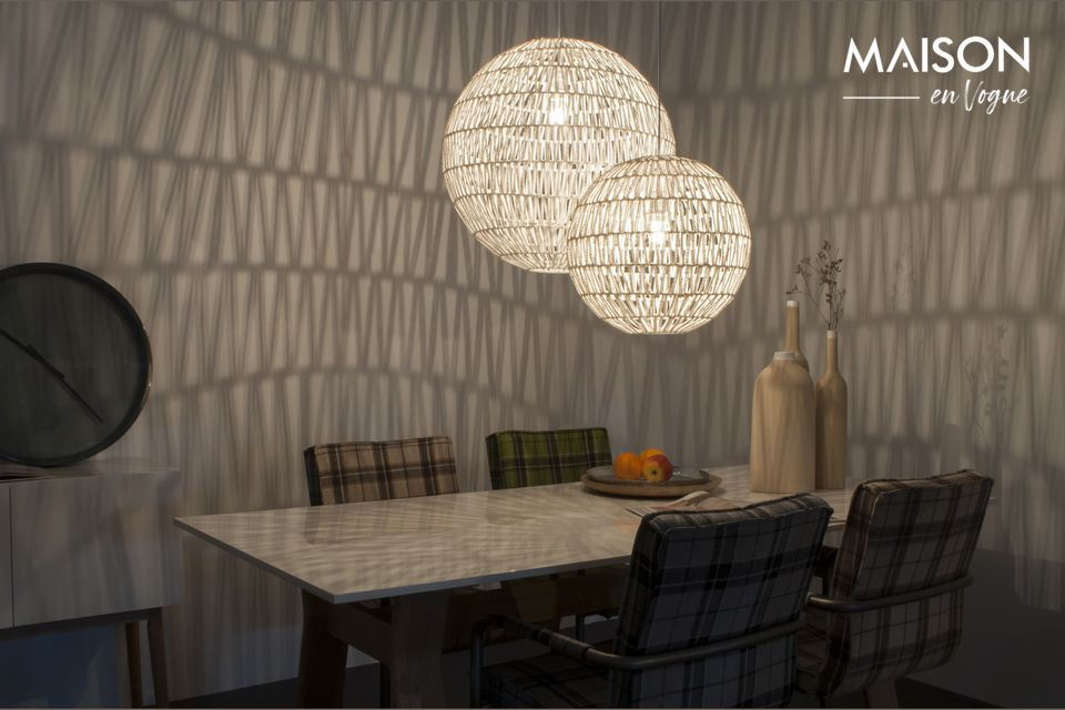 This luminaire is a true decorative accessory that will fit any interior