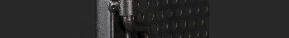 Material Details Texas black metal cabinet