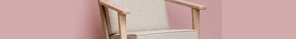 Material Details Théra Linen Armchair