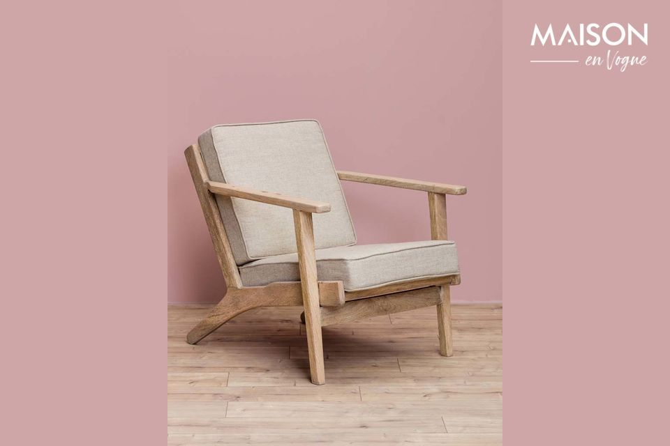 The Théra de Chehoma armchair offers you the opportunity to opt for the retro style with an