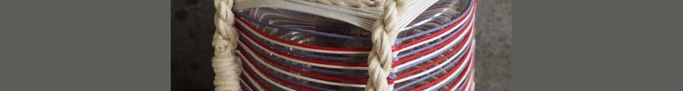 Material Details Thieux lantern with coloured cotton threads