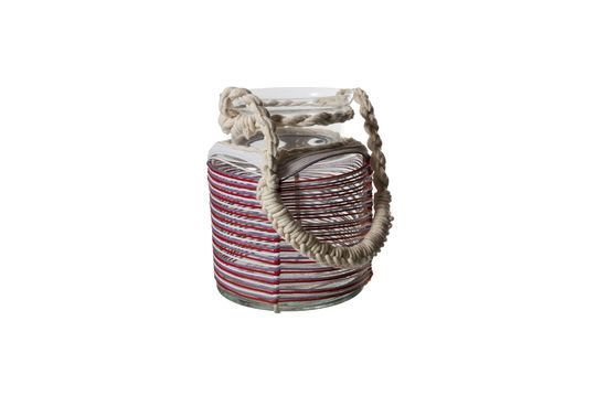 Thieux lantern with coloured cotton threads