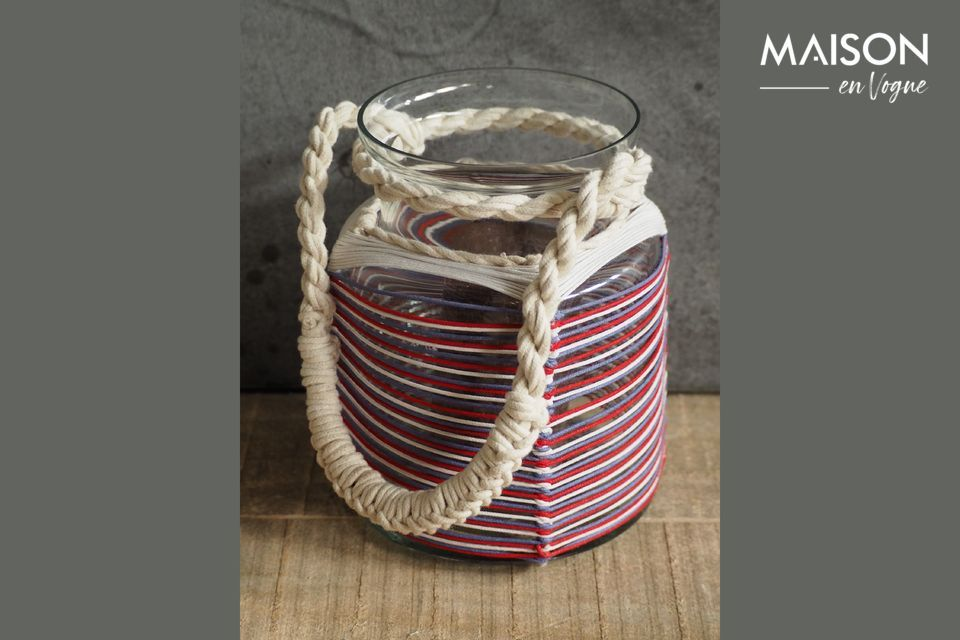 Thieux lantern with coloured cotton threads Chehoma