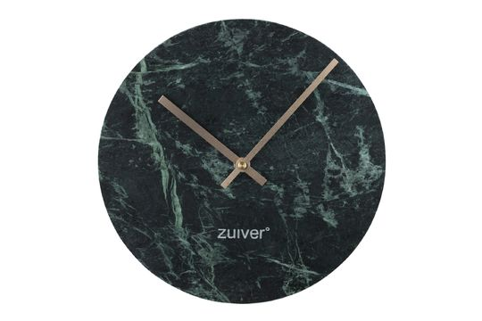 Time Clock in green marble
