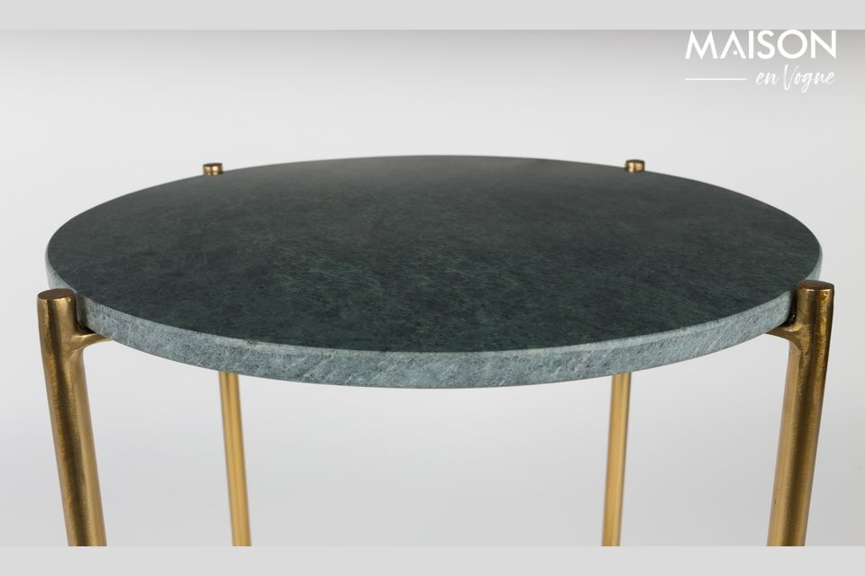 The nobility and elegance of a small marble table
