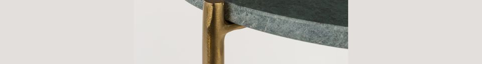 Material Details Timpa green marble side table
