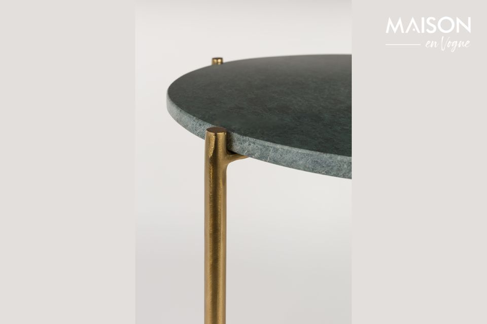 The Timpa green marble side table is a small