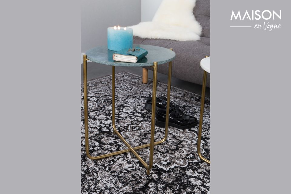 Timpa green marble side table - 6
