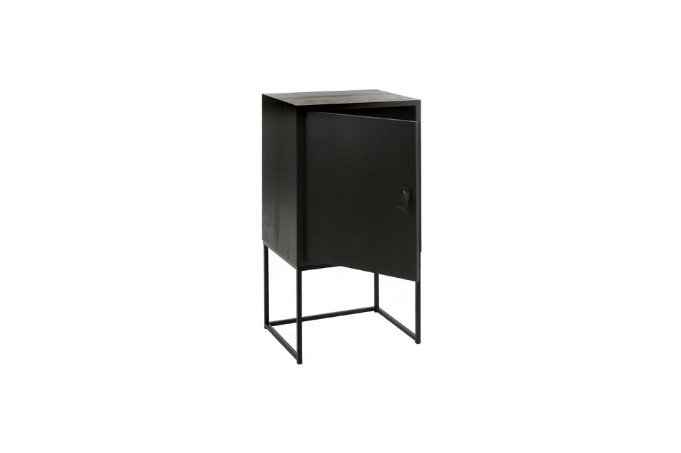 Formed with a metal base, it reveals a rectangular structure forming a closed chest