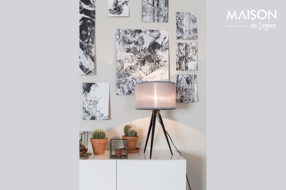 A small table lamp with Scandinavian charm