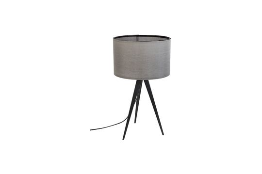 Tripod black and grey table lamp Clipped
