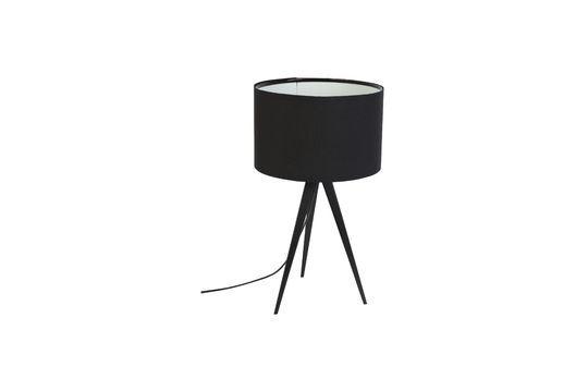 Tripod Black Table Lamp Clipped