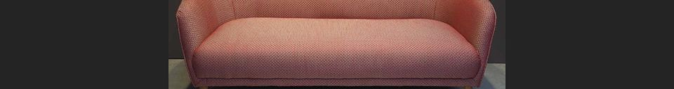 Material Details Tuileries sofa in red Jacquard fabric