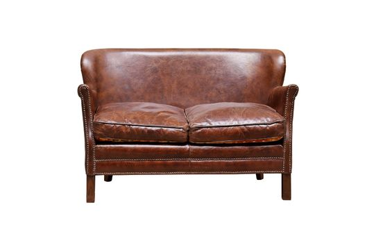 Turner two-seater leather armchair