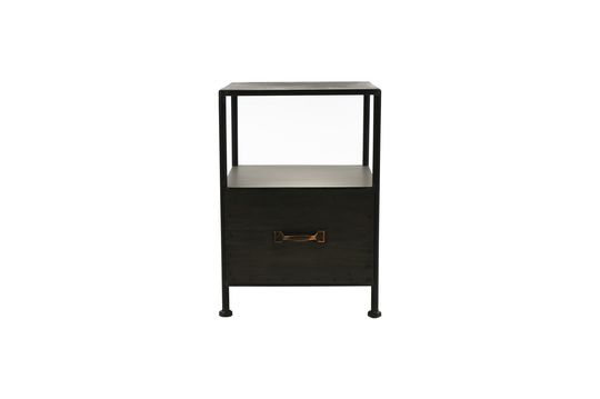 Typographic Side Table with 1 Drawer Clipped