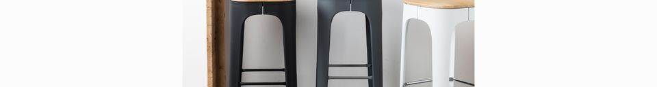 Material Details Up-High Bar Stool white