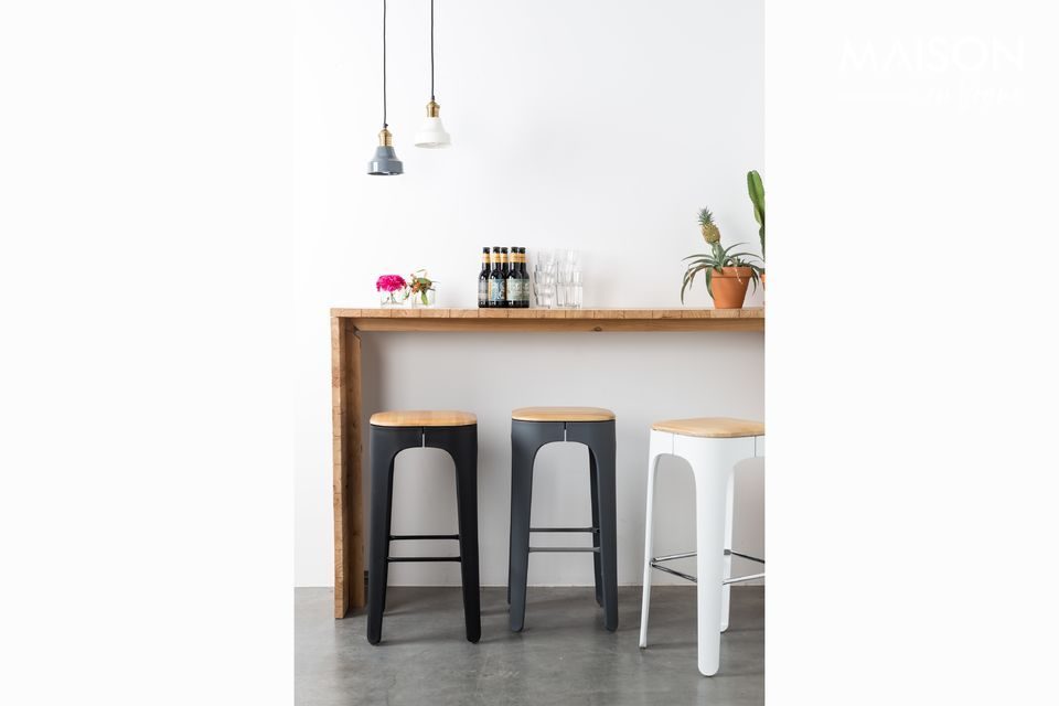 This bar stool, published by White label Edition, \