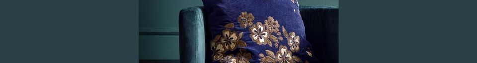 Material Details Velvet Flower cushion cover with embroidery