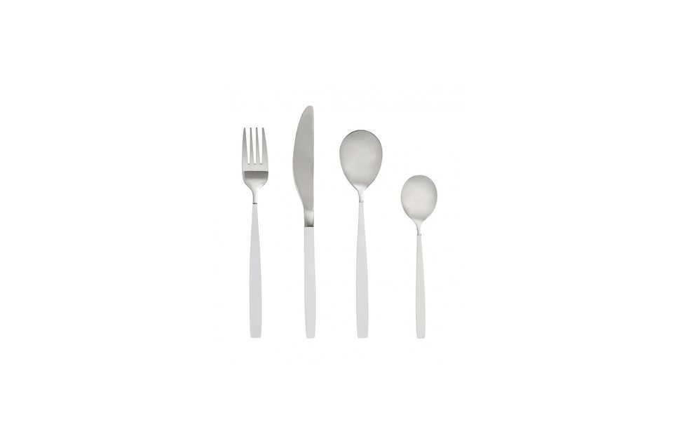 The modern and sleek design of this set brings an incomparable style to your table
