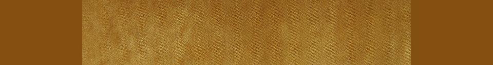 Material Details Vez 2-seater retro sofa ochre color