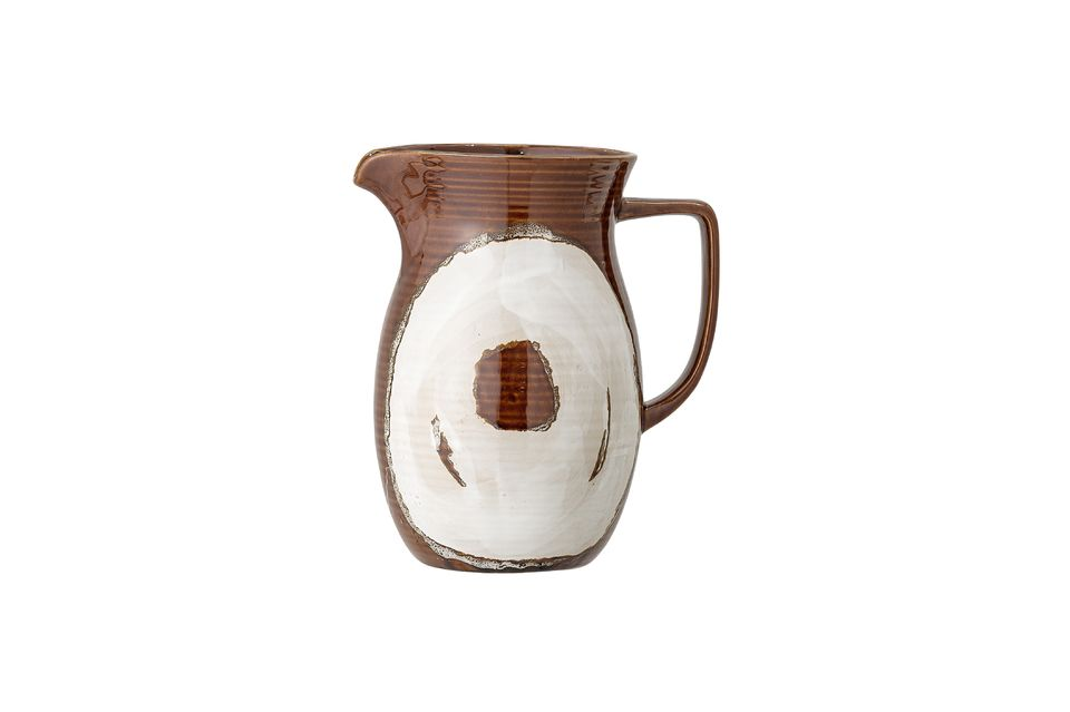Villemer stoneware pitcher Bloomingville