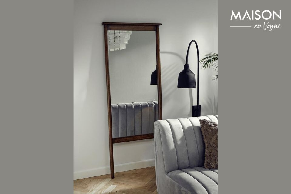 Wasia standing mirror with wooden frame Nordal
