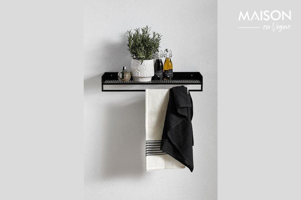 Wire Black Metal Shelf Nordal