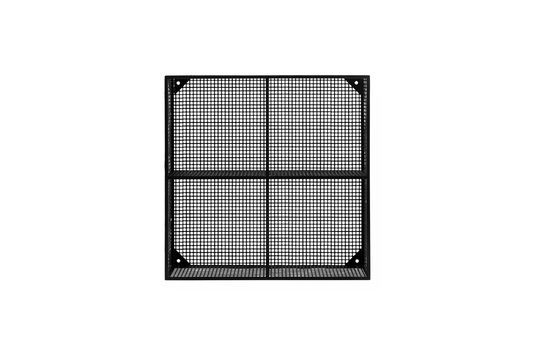 Wire black metal shelf with 4 compartments