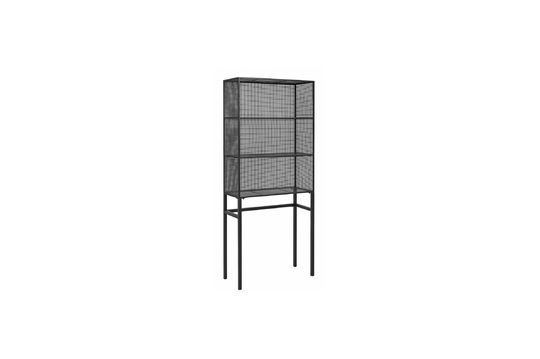 Wire wall shelf black