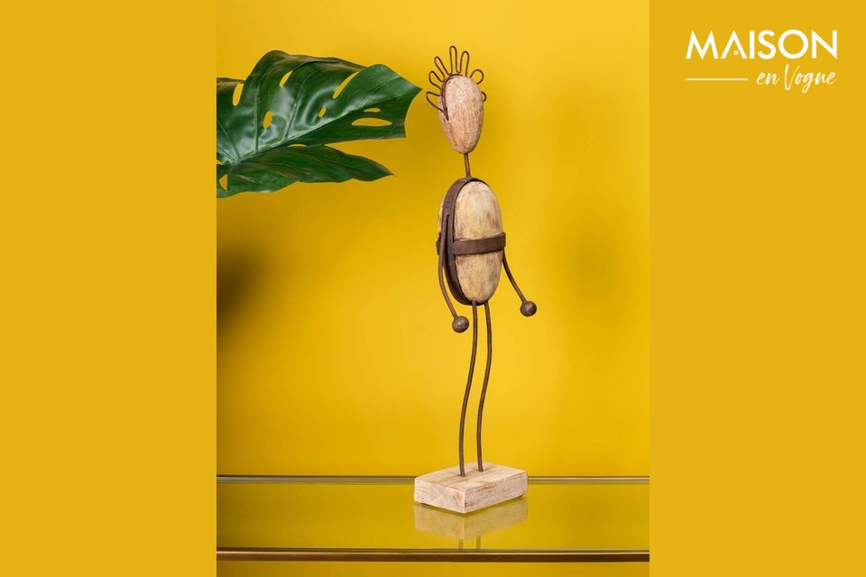 Are you looking for a unique decorative object for your home? Then this little guy with the funny
