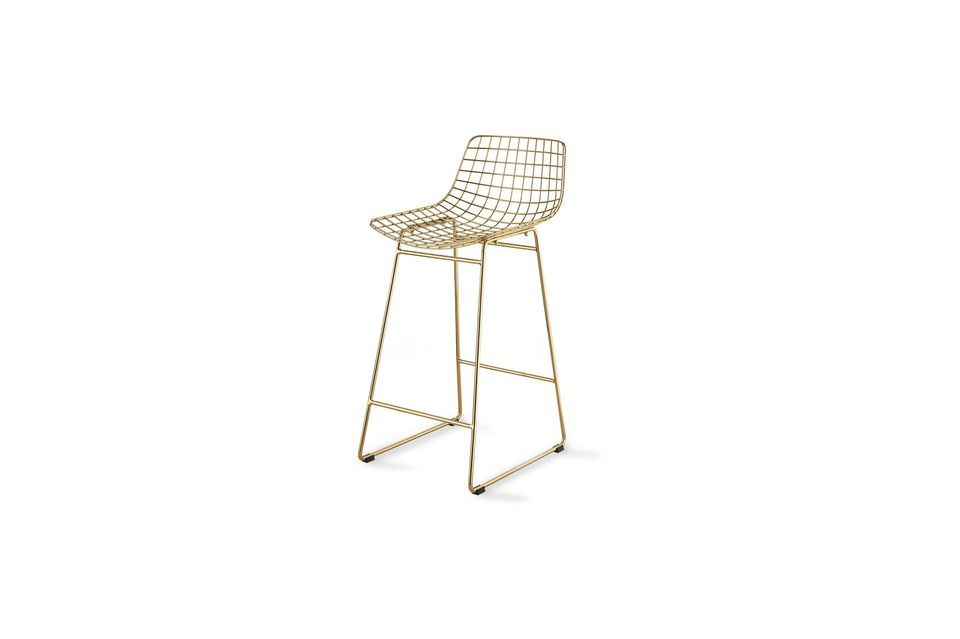 The brightness of brass for a stool with a unique design