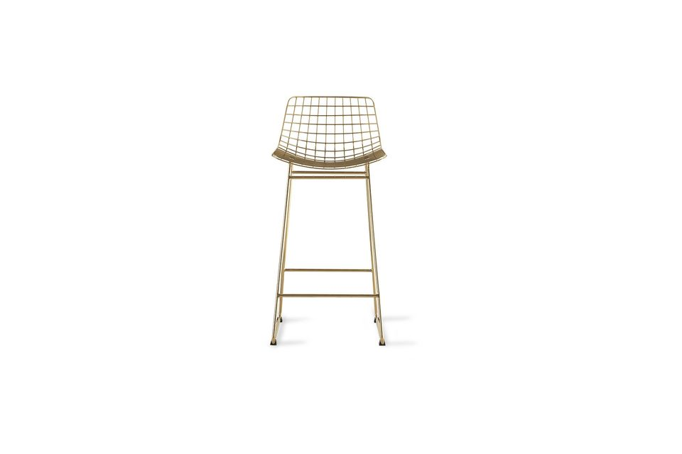 Set on a double base, it has a braided wire seat
