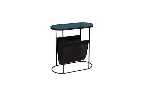 Zoza Oval table with magazine rack Clipped